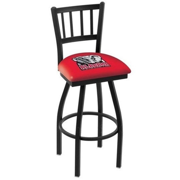 Alabama Crimson Tide Elephant D1 Jailhouse Back Bar Stool - SportsFansPlus.com