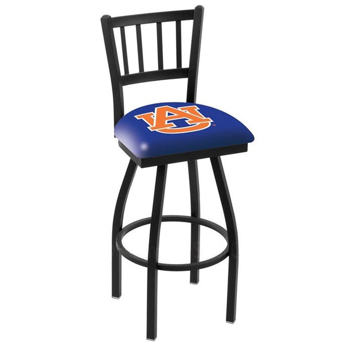 Auburn Tigers Bar Stool with Back - Sports Fans Plus