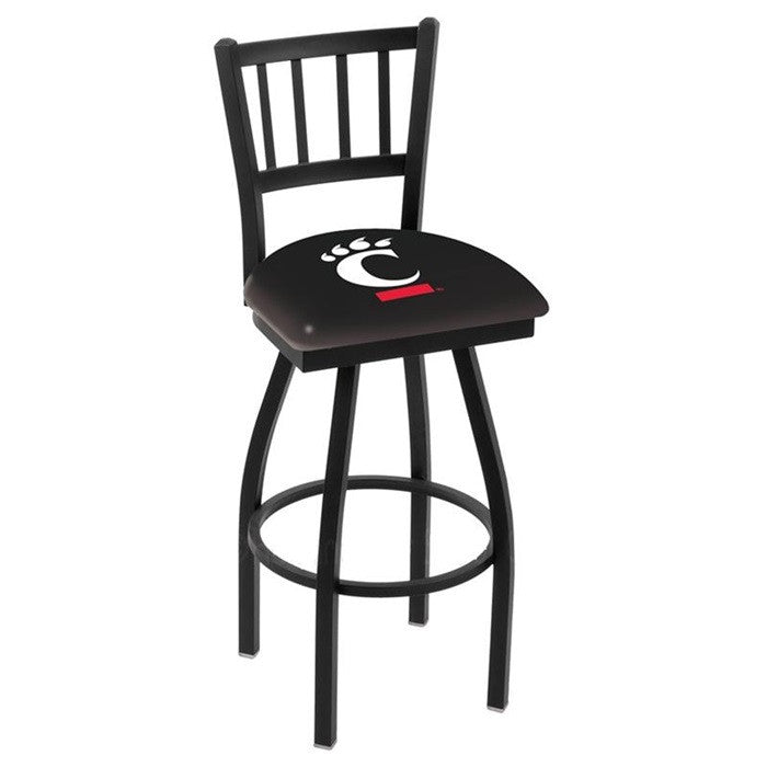 Cincinnati Bearcats Bar Stool with Back - Sports Fans Plus