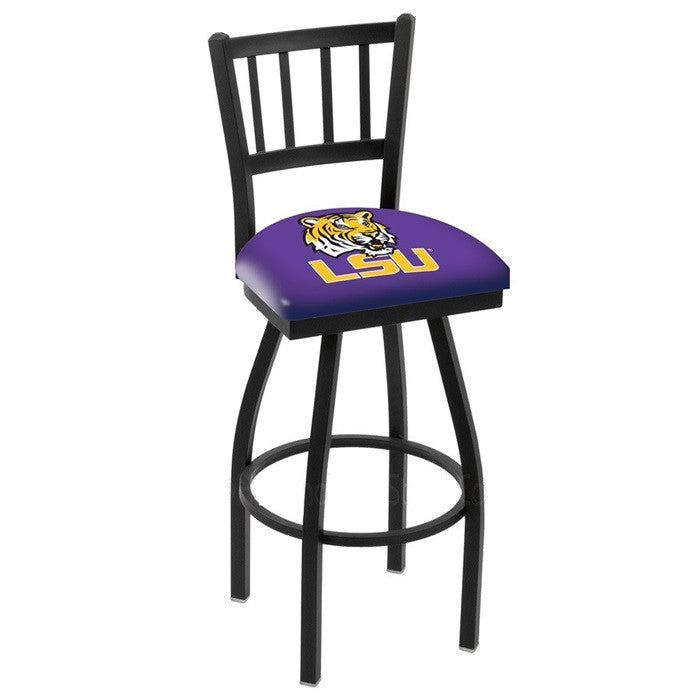 Louisiana State Tigers Bar Stool with Back - Sports Fans Plus
