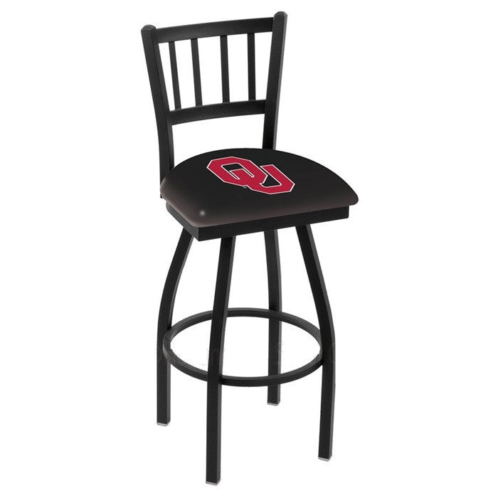 Oklahoma Sooners Bar Stool with Back - Sports Fans Plus
