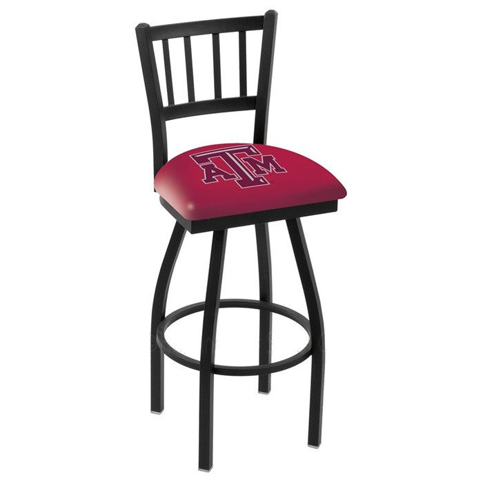 Texas A&M Aggies Bar Stool with Back - Sports Fans Plus