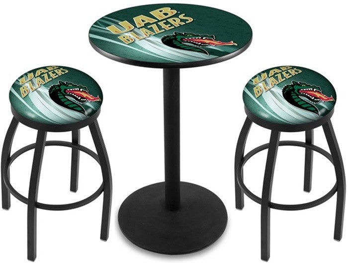 Alabama at Birmingham Blazers D2 Black Pub Table Set