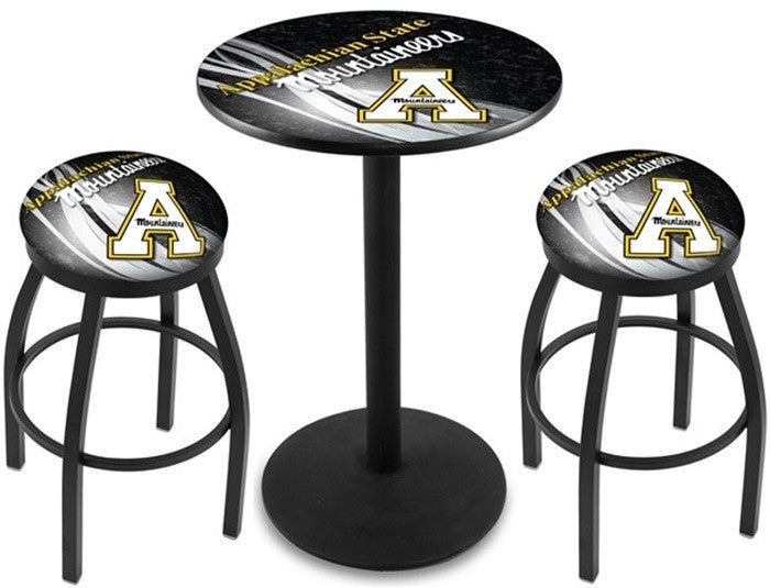 Appalachian State Mountaineers D2 Black Pub Table Set