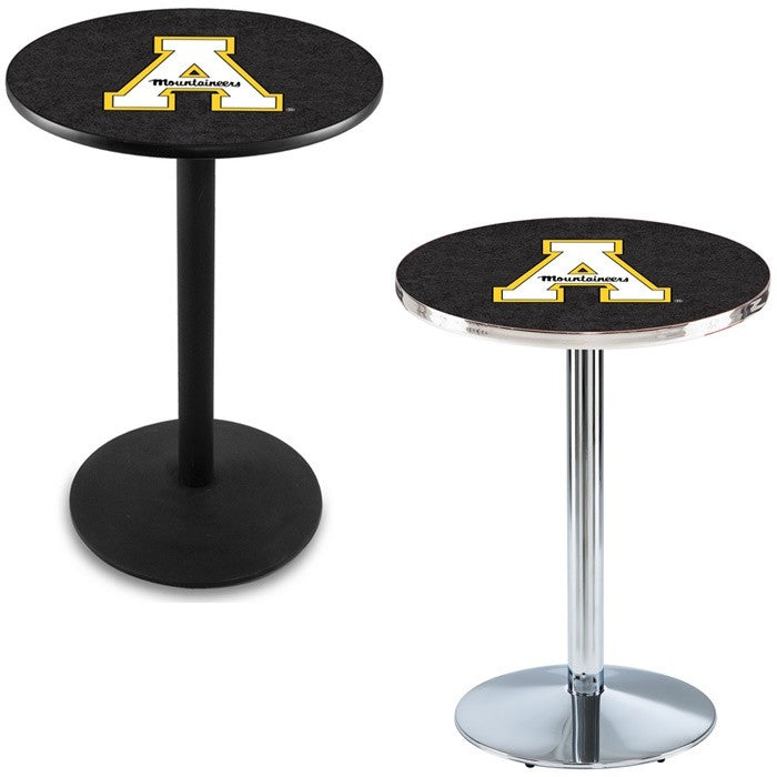 Appalachian State Mountaineers Round-Base Pub Table - Sports Fans Plus