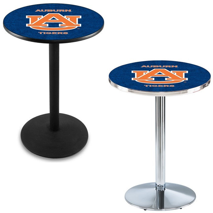 Auburn Tigers Round-Base Pub Table - Sports Fans Plus
