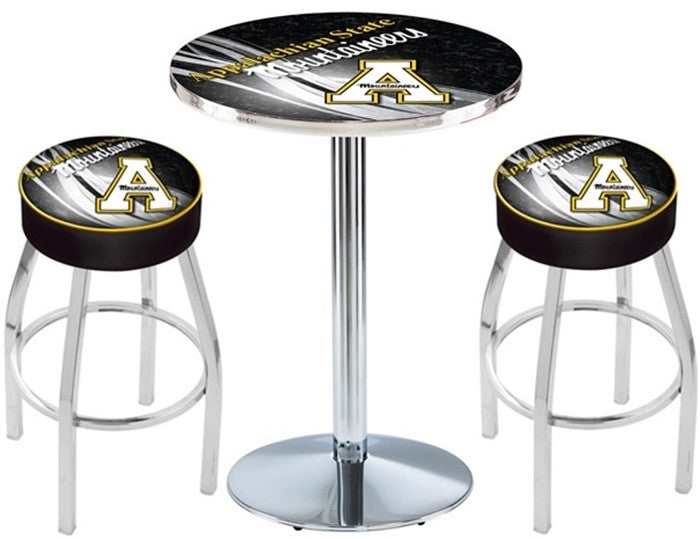 Appalachian State Mountaineers D2 Chrome Pub Table Set