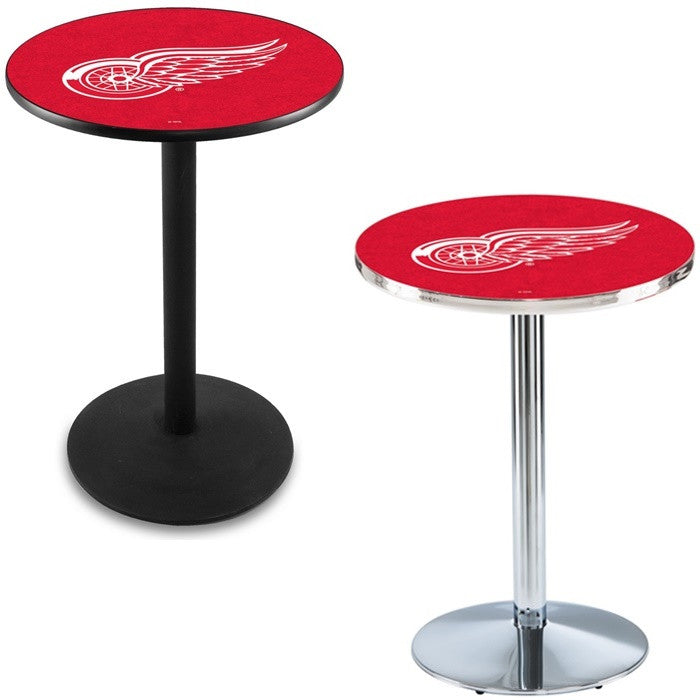 Detroit Red Wings Round-Base Pub Table - Sports Fans Plus