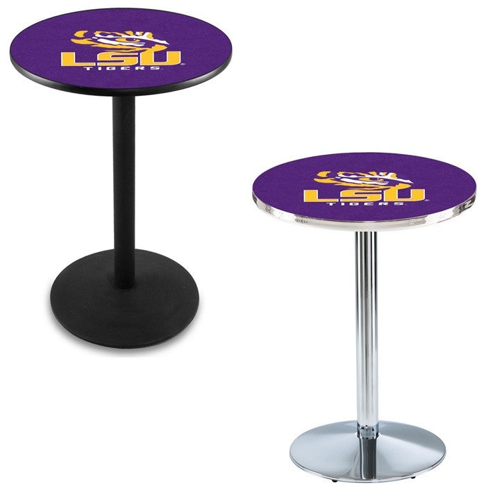 Louisiana State Tigers Round-Base Pub Table - Sports Fans Plus