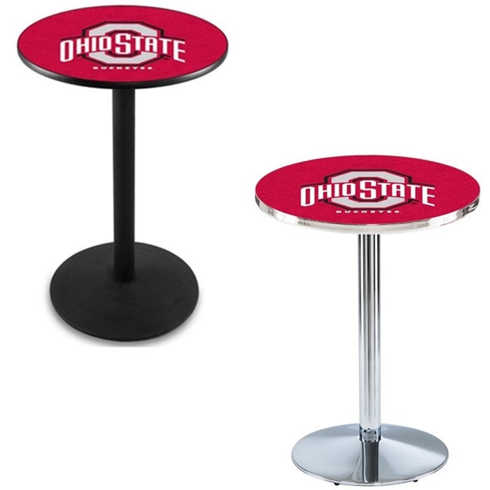Ohio State Buckeyes Round-Base Pub Table - Sports Fans Plus