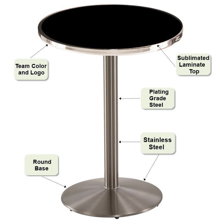 Stainless Steel Pub Table Features