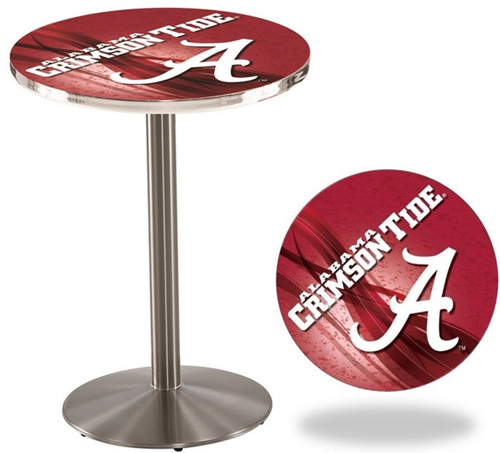 Alabama Crimson Tide A D2 Stainless Steel Pub Table