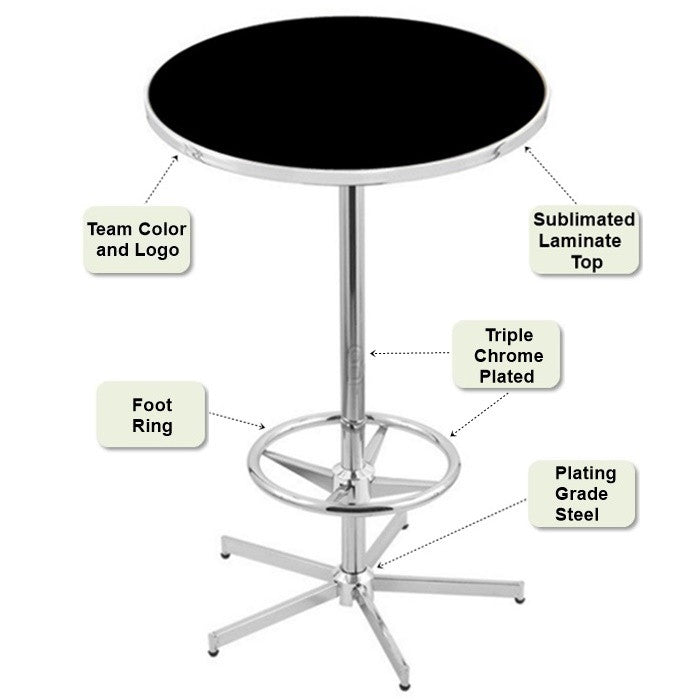 Retro-Style Base Pub Table Features