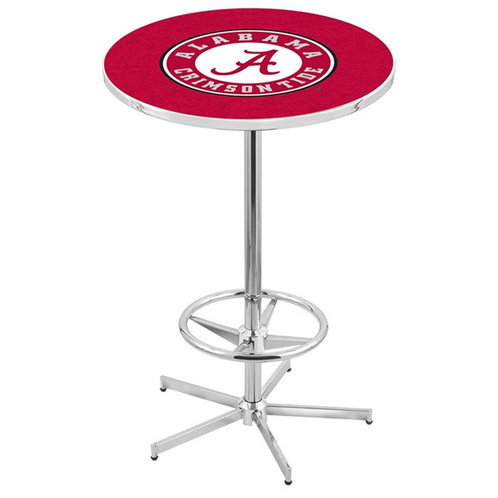 Alabama Crimson Tide A D1 Retro-Style Base Pub Table - SportsFansPlus.com
