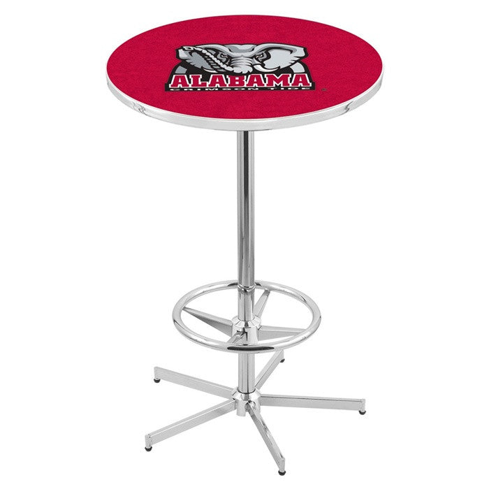 Alabama Crimson Tide Elephant D1 Retro-Style Base Pub Table - SportsFansPlus.com