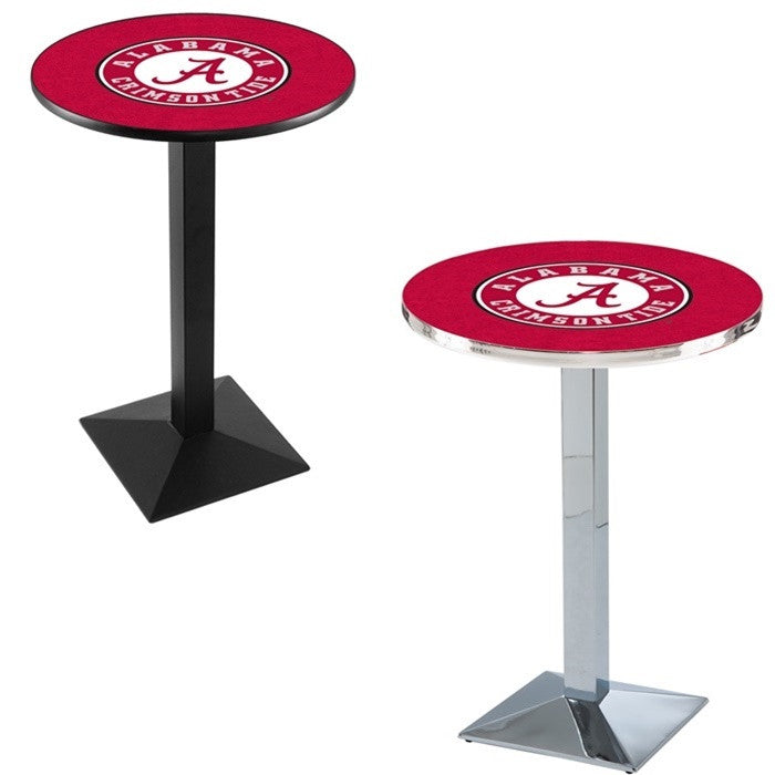 Alabama Crimson Tide A D1 Square-Base Pub Table - SportsFansPlus.com