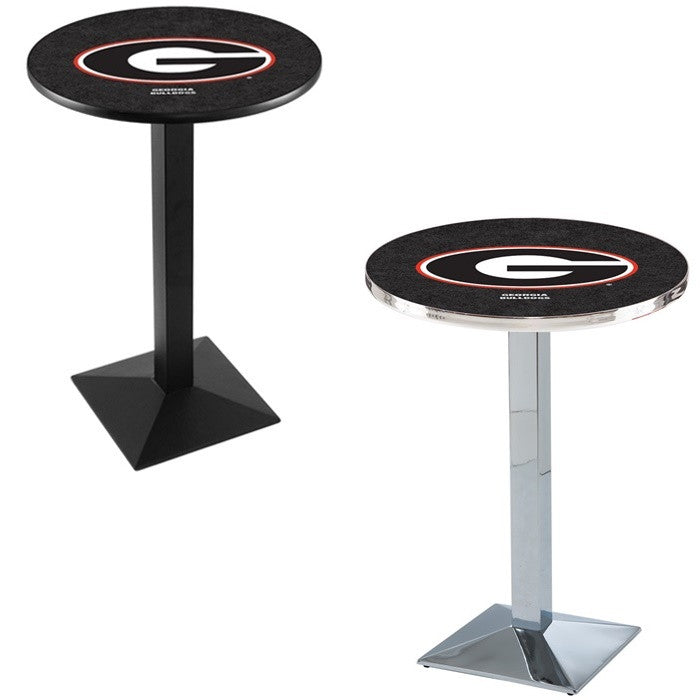 Georgia Bulldogs Square-Base Pub Table