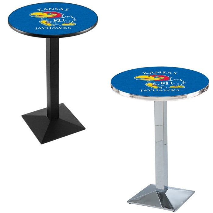 Kansas Jayhawks Square-Base Pub Table