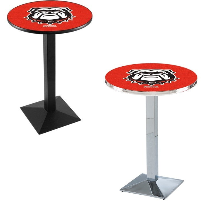 Georgia Bulldogs Square-Base Pub Table - Sports Fans Plus - 2