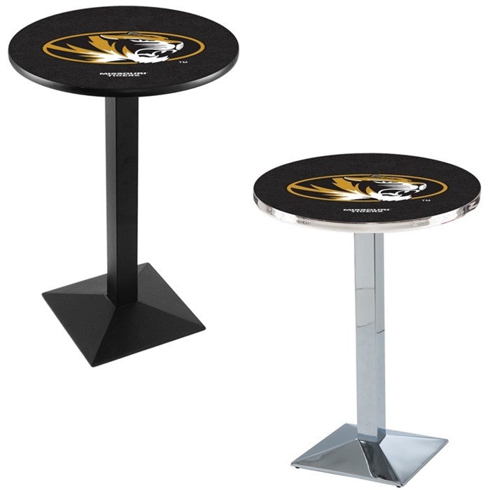 Missouri Tigers Square-Base Pub Table