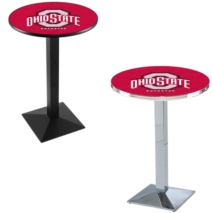 Ohio State Buckeyes Square-Base Pub Table