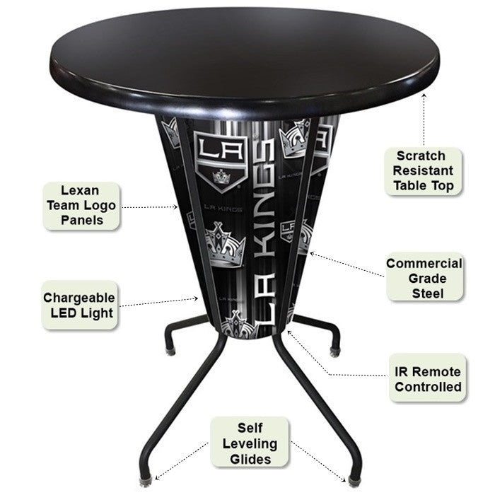 Black Lighted Pub Table Features