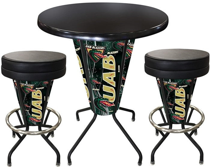 Alabama at Birmingham Blazers D1 Black Lighted Pub Table Set