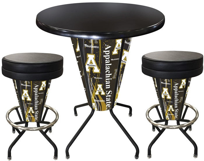 Appalachian State Mountaineers D1 Black Lighted Pub Table Set