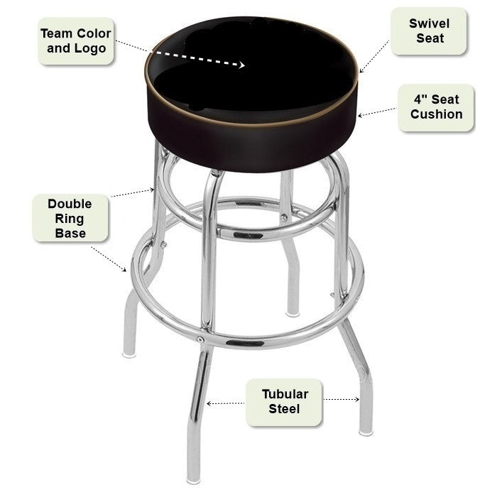Retro Chrome Bar Stool Features