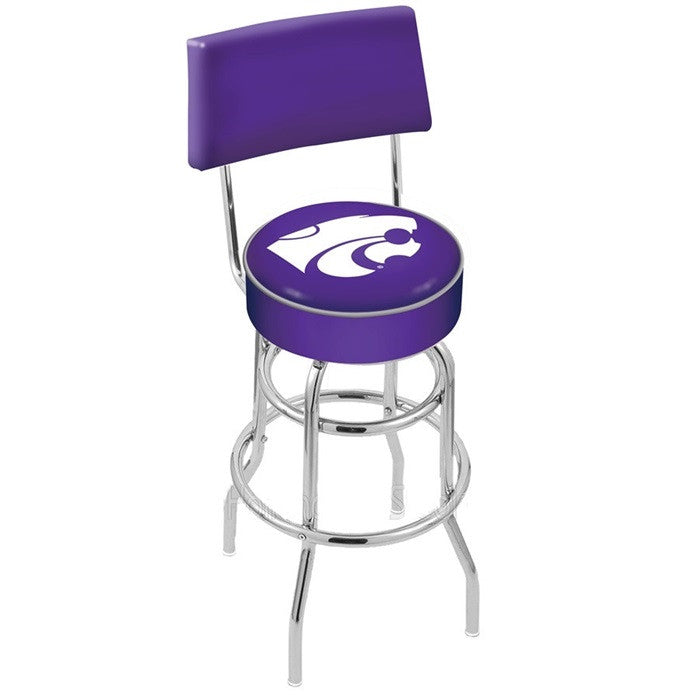 Kansas State Wildcats Bar Stool with Back - Sports Fans Plus