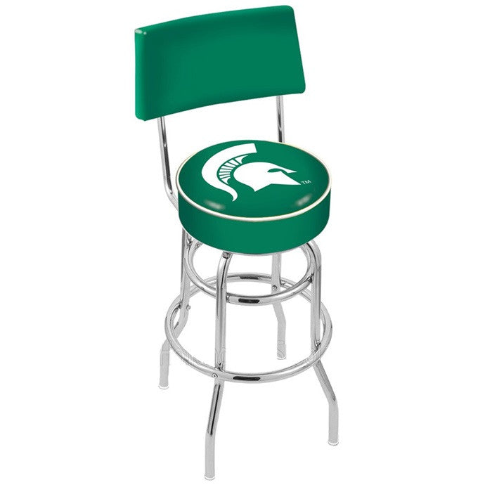 Michigan State Spartans Bar Stool with Back - Sports Fans Plus
