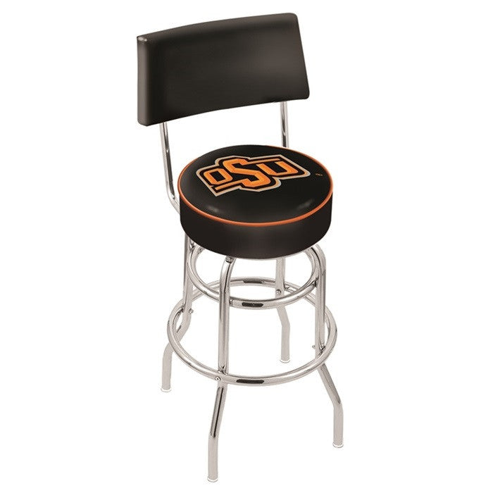 Oklahoma State Cowboys Bar Stool with Back - Sports Fans Plus