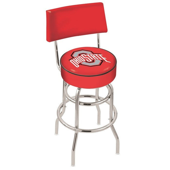 Ohio State Buckeyes Bar Stool with Back - Sports Fans Plus
