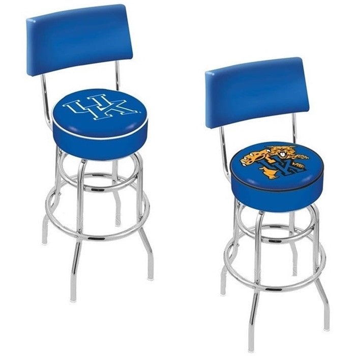 Kentucky Wildcats Bar Stool with Back - Sports Fans Plus