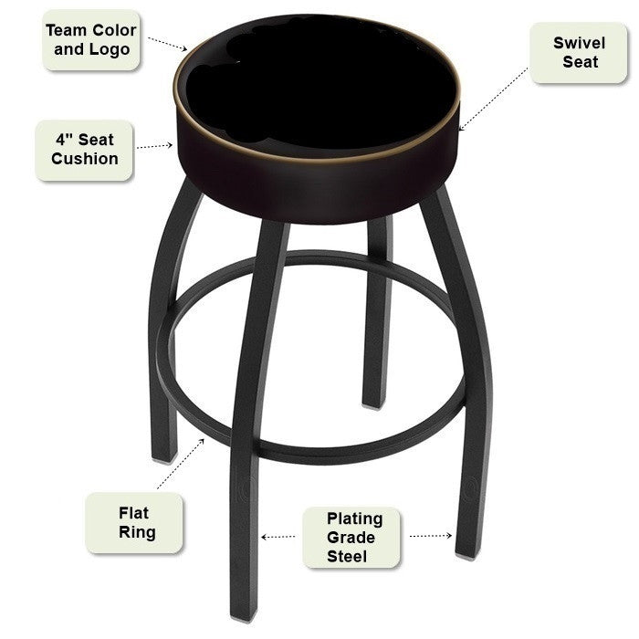 Black Bar Stool - Sports Fans Plus