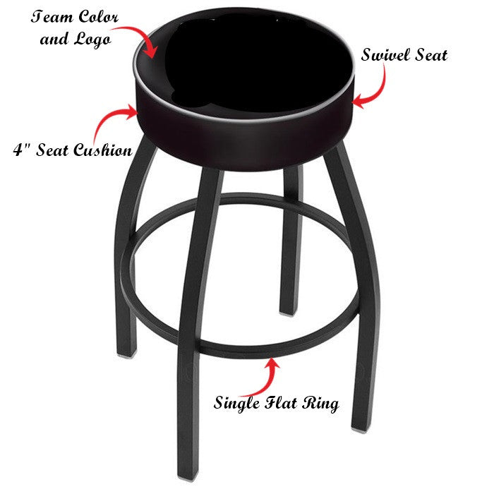 Wisconsin Badgers Black Bar Stool
