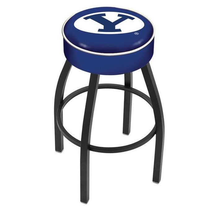 Brigham Young Cougars Black Bar Stool - Sports Fans Plus  - 1