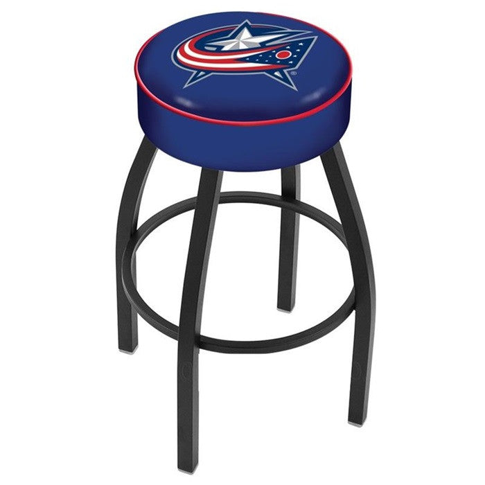 Columbus Blue Jackets NHL Black Bar Stool - Sports Fans Plus