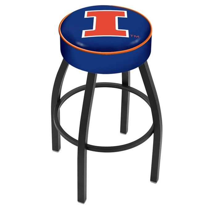 Illinois Fighting Illini Black Bar Stool - Sports Fans Plus