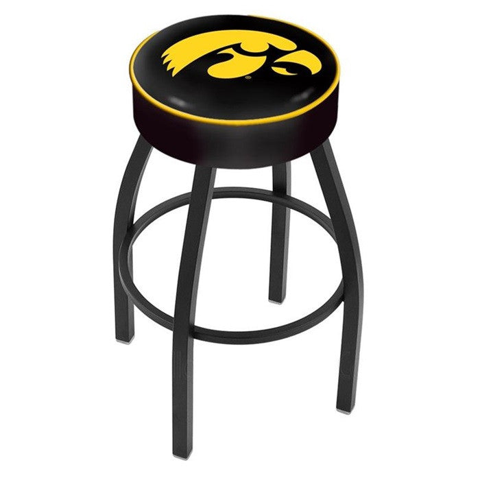 Iowa Hawkeyes Black Bar Stool - Sports Fans Plus