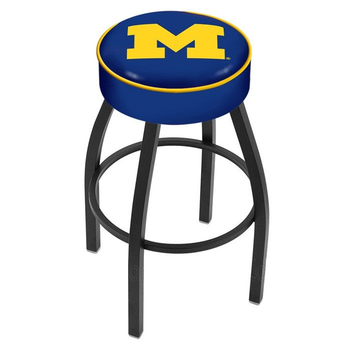 Michigan Wolverines Black Bar Stool - Sports Fans Plus  - 1