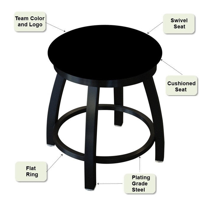 Black Swivel Vanity Stool Features