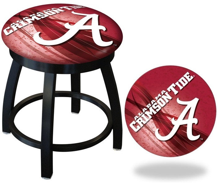 Alabama Crimson Tide A D2 Black Swivel Vanity Stool