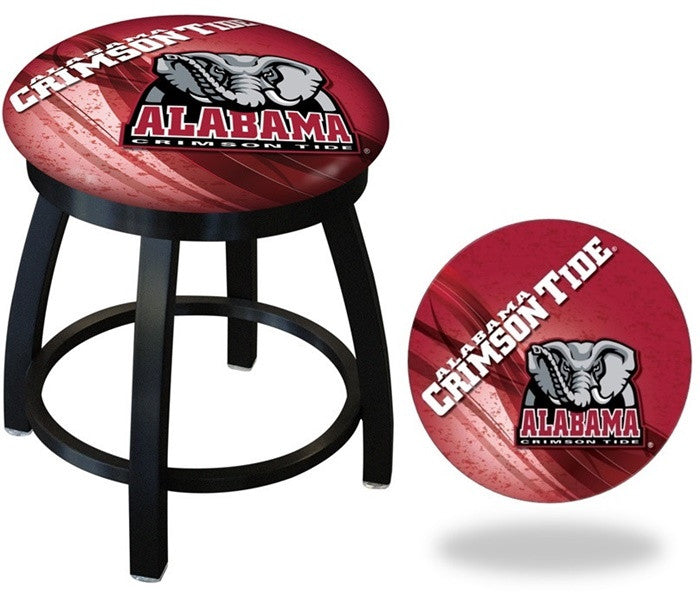 Alabama Crimson Tide Elephant D2 Black Swivel Vanity Stool