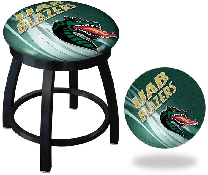 Alabama at Birmingham Blazers D2 Black Swivel Vanity Stool - SportsFansPlus.com
