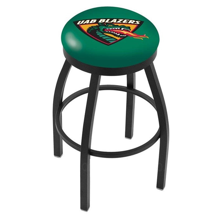 Alabama at Birmingham Blazers Black Flat Ring Bar Stool - SportsFansPlus.com