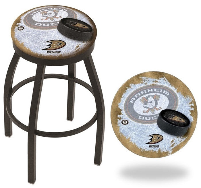 Anaheim Ducks NHL D2 Black Flat Ring Bar Stool