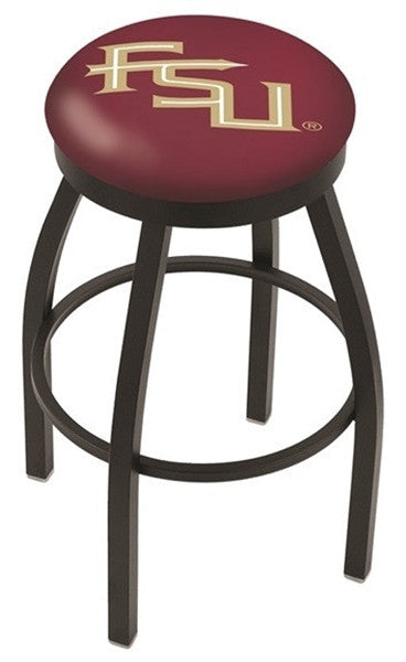 Florida State Seminoles Black Flat Ring Bar Stool -FSU- Sports Fans Plus - FSU