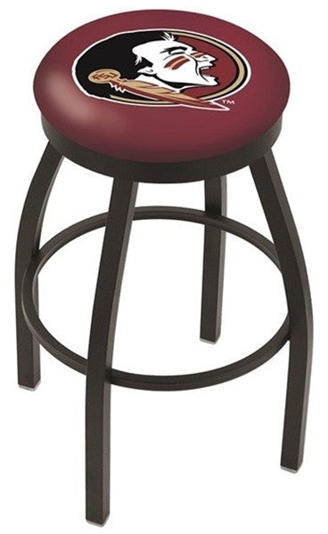 Florida State Seminoles Black Flat Ring Bar Stool -Seminoles- Sports Fans Plus - Seminole