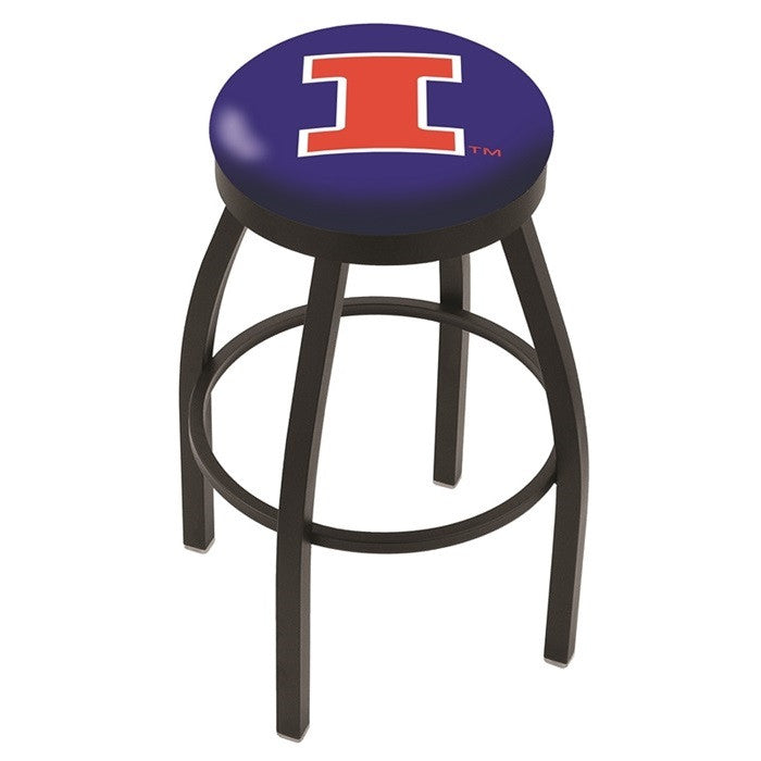Illinois Fighting Illini Flat Ring Bar Stool - Sports Fans Plus